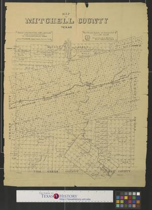 Map of Mitchell County, Texas.