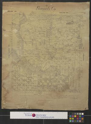 Primary view of object titled 'Map of Runnels Co. [Texas].'.