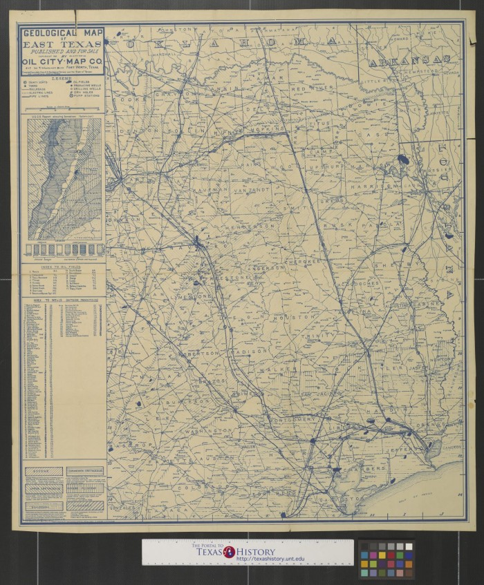 Geological Map Of East Texas The Portal To Texas History - Map of east texas