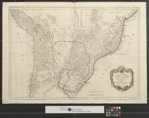 Primary view of Carte qui représent la parte méridionale du Brésil et du Pérou, le Chili septentrional et le Paraguay : ce qui fait la partie de milieu de L'Amérique Méridionale [South America - Sheet 2].