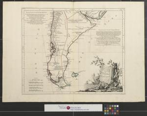 Primary view of Carte du Chili méridional, du Rio de la Plata des Patagons, et du Détroit de Magellan : ce qui fait l'extremité australe de l'Amérique Meridle [South America - Sheet 3].