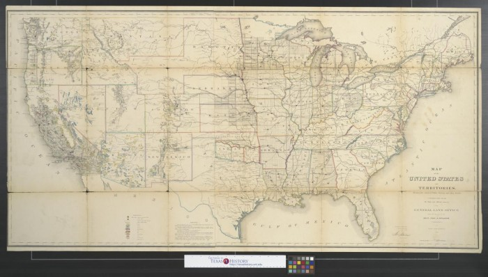 Map of the United States and territories: showing the extent of ...