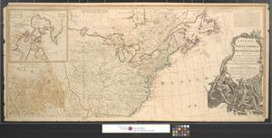 Primary view of A new map of North America, with the West India Islands : Divided according to the preliminary articles of peace, signed at Versailles, 20, Jan. 1783. Wherein are particularly distinguished the United States and the several provinces, governments & ca. which compose the British dominions; Laid down according to the latest surveys and corrected from the original materials, of Goverr. Pownall, Membr. of Parliamt. 1783 [Sheet 1].
