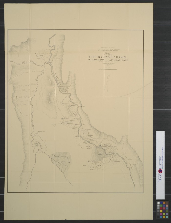 Map of the upper geyser basin, Yellowstone National Park ...