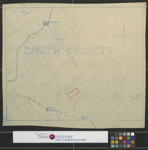 Primary view of object titled '[Map of Erath County, Texas]'.