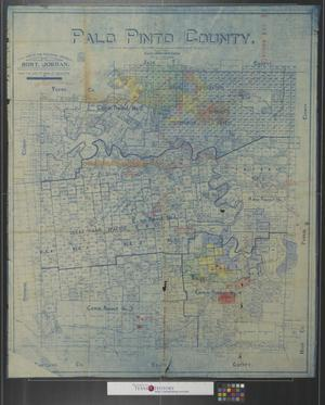 Primary view of object titled 'Palo Pinto County copied from Gen. Land Office map of 1898: Showing abstract numbers & latest surveys, etc.'.