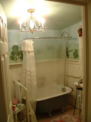 Bathroom With Claw Footed Bathtub The Portal To Texas History