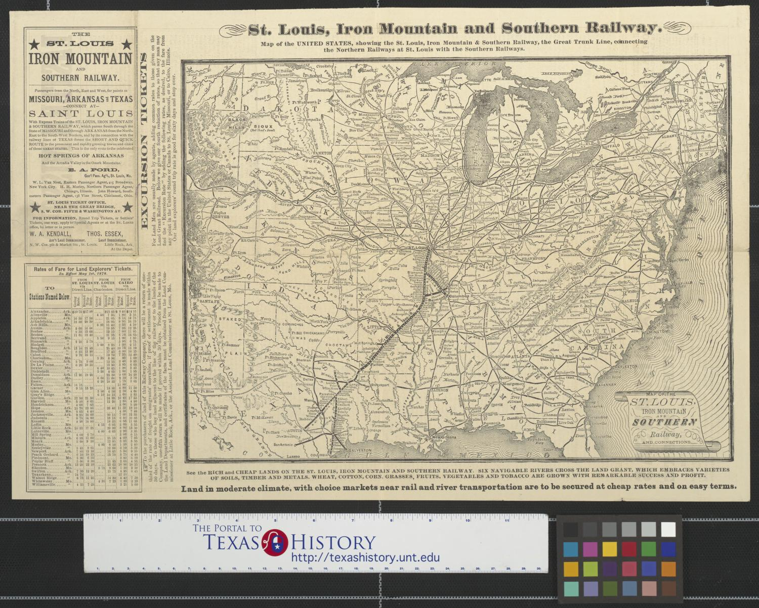 Map of the St. Louis, Iron Mountain and Southern Railway and ...