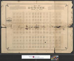 Primary view of object titled 'Map of Dundee. Archer Co. Texas'.