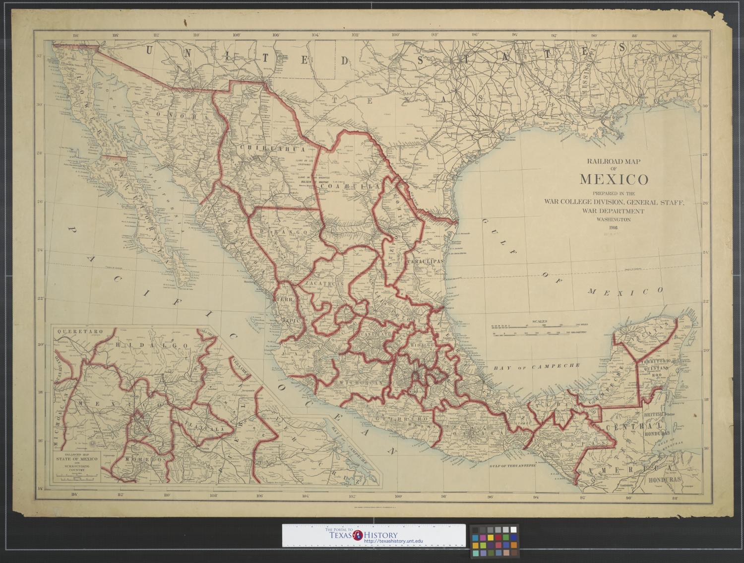 Railroad map of Mexico.                                                                                                      [Sequence #]: 1 of 2