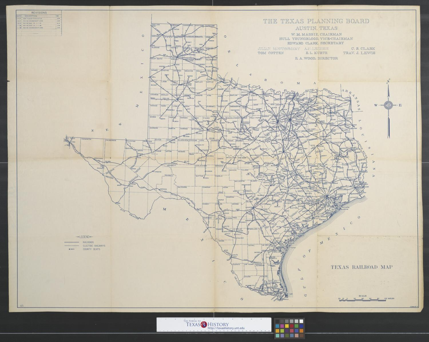 Map Of Texas Railroads.Texas Railroad Map The Portal To Texas History