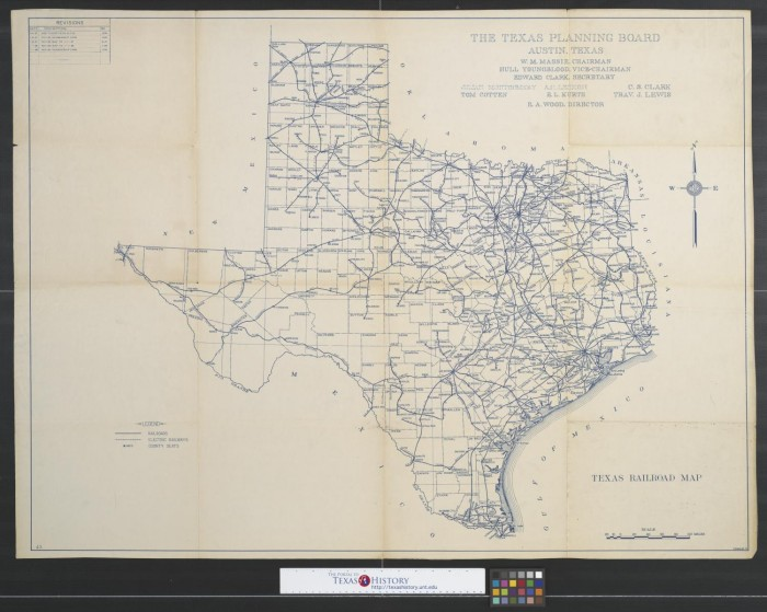 Railroad Map Of Texas.Texas Railroad Map The Portal To Texas History