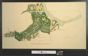Primary view of object titled 'Proposed Forest Park master plan.'.