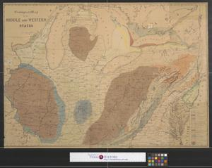 Primary view of Geological map of the Middle and Western states.