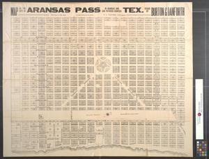 Primary view of object titled 'Map of the city of Aransas Pass, Tex.: In Aransas and San Patricio Counties.'.