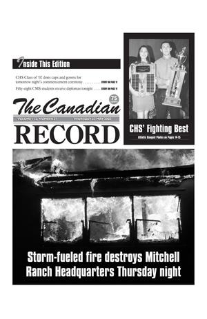 Primary view of object titled 'The Canadian Record (Canadian, Tex.), Vol. 112, No. 21, Ed. 1 Thursday, May 23, 2002'.
