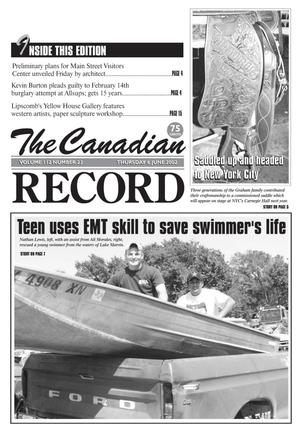 The Canadian Record (Canadian, Tex.), Vol. 112, No. 23, Ed. 1 Thursday, June 6, 2002