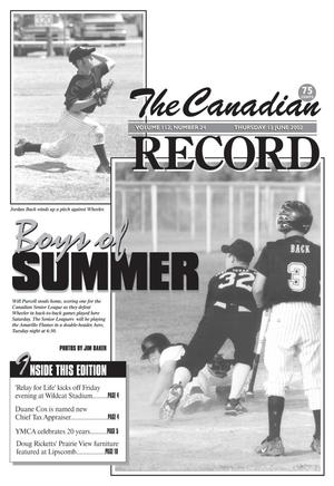 Primary view of object titled 'The Canadian Record (Canadian, Tex.), Vol. 112, No. 24, Ed. 1 Thursday, June 13, 2002'.