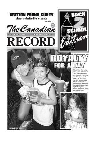 The Canadian Record (Canadian, Tex.), Vol. 112, No. 32, Ed. 1 Thursday, August 8, 2002