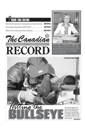 Primary view of object titled 'The Canadian Record (Canadian, Tex.), Vol. 112, No. 34, Ed. 1 Thursday, August 22, 2002'.