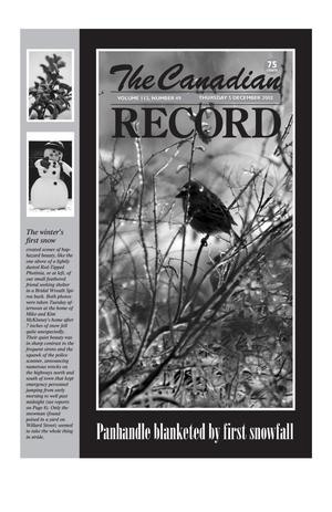 Primary view of object titled 'The Canadian Record (Canadian, Tex.), Vol. 112, No. 49, Ed. 1 Thursday, December 5, 2002'.
