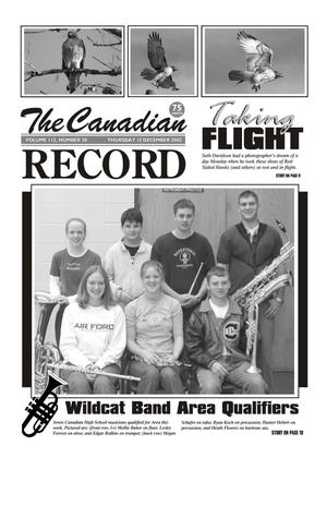 Primary view of object titled 'The Canadian Record (Canadian, Tex.), Vol. 112, No. 50, Ed. 1 Thursday, December 12, 2002'.