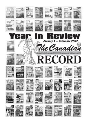 Primary view of object titled 'The Canadian Record (Canadian, Tex.), Vol. 113, No. 1, Ed. 1 Thursday, January 2, 2003'.
