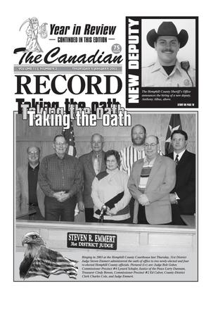 Primary view of object titled 'The Canadian Record (Canadian, Tex.), Vol. 113, No. 2, Ed. 1 Thursday, January 9, 2003'.