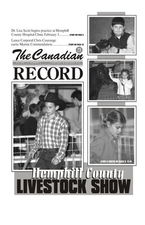 Primary view of object titled 'The Canadian Record (Canadian, Tex.), Vol. 113, No. 5, Ed. 1 Thursday, January 30, 2003'.