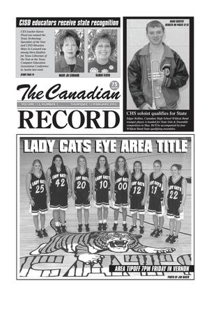 Primary view of object titled 'The Canadian Record (Canadian, Tex.), Vol. 113, No. 7, Ed. 1 Thursday, February 13, 2003'.