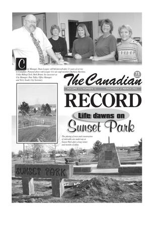 Primary view of object titled 'The Canadian Record (Canadian, Tex.), Vol. 113, No. 13, Ed. 1 Thursday, March 27, 2003'.