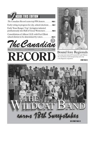 Primary view of object titled 'The Canadian Record (Canadian, Tex.), Vol. 113, No. 16, Ed. 1 Thursday, April 17, 2003'.