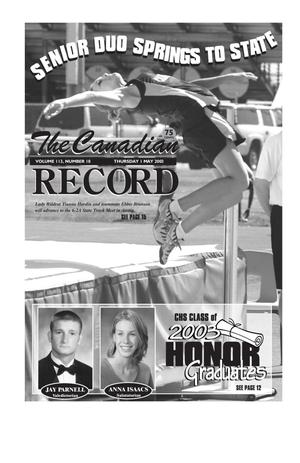 The Canadian Record (Canadian, Tex.), Vol. 113, No. 18, Ed. 1 Thursday, May 1, 2003