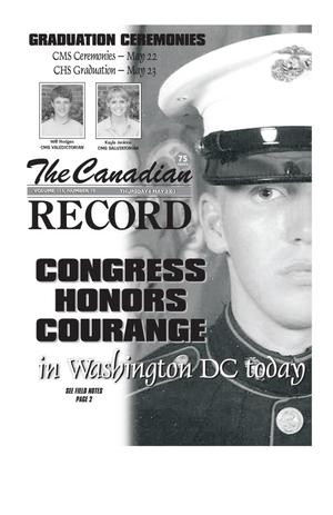 Primary view of object titled 'The Canadian Record (Canadian, Tex.), Vol. 113, No. 19, Ed. 1 Thursday, May 8, 2003'.
