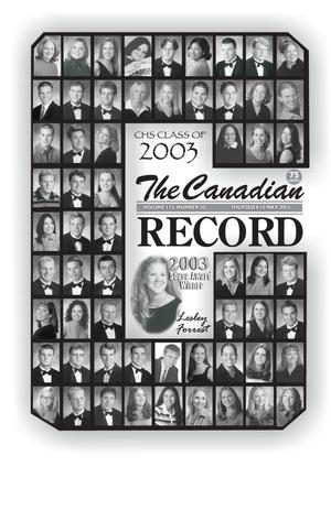 Primary view of object titled 'The Canadian Record (Canadian, Tex.), Vol. 113, No. 20, Ed. 1 Thursday, May 15, 2003'.