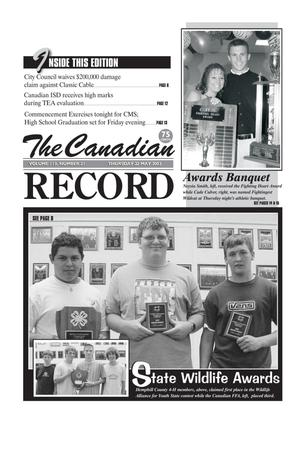 Primary view of object titled 'The Canadian Record (Canadian, Tex.), Vol. 113, No. 21, Ed. 1 Thursday, May 22, 2003'.