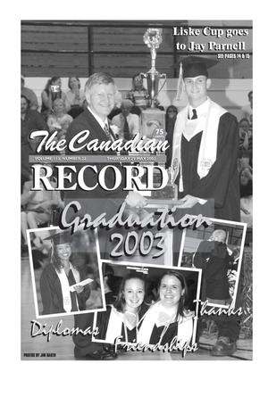 Primary view of object titled 'The Canadian Record (Canadian, Tex.), Vol. 113, No. 22, Ed. 1 Thursday, May 29, 2003'.
