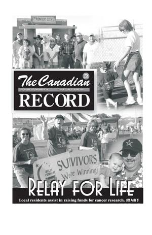 Primary view of object titled 'The Canadian Record (Canadian, Tex.), Vol. 113, No. 24, Ed. 1 Thursday, June 12, 2003'.