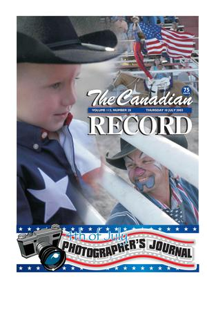 The Canadian Record (Canadian, Tex.), Vol. 113, No. 28, Ed. 1 Thursday, July 10, 2003