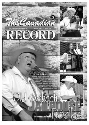 Primary view of object titled 'The Canadian Record (Canadian, Tex.), Vol. 113, No. 31, Ed. 1 Thursday, July 31, 2003'.