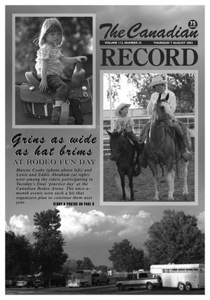 The Canadian Record (Canadian, Tex.), Vol. 113, No. 32, Ed. 1 Thursday, August 7, 2003