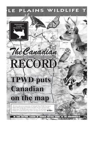 Primary view of object titled 'The Canadian Record (Canadian, Tex.), Vol. 113, No. 34, Ed. 1 Thursday, August 21, 2003'.