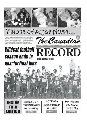 Primary view of object titled 'The Canadian Record (Canadian, Tex.), Vol. 113, No. 49, Ed. 1 Thursday, December 4, 2003'.