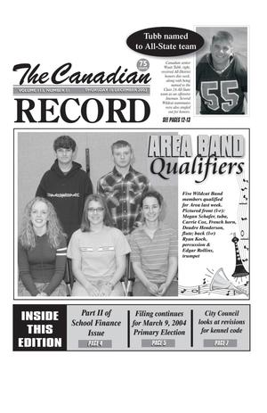The Canadian Record (Canadian, Tex.), Vol. 113, No. 51, Ed. 1 Thursday, December 18, 2003