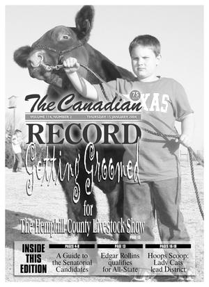 Primary view of object titled 'The Canadian Record (Canadian, Tex.), Vol. 114, No. 3, Ed. 1 Thursday, January 15, 2004'.