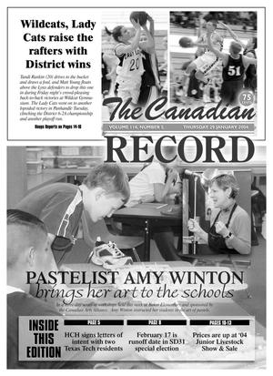 Primary view of object titled 'The Canadian Record (Canadian, Tex.), Vol. 114, No. 5, Ed. 1 Thursday, January 29, 2004'.
