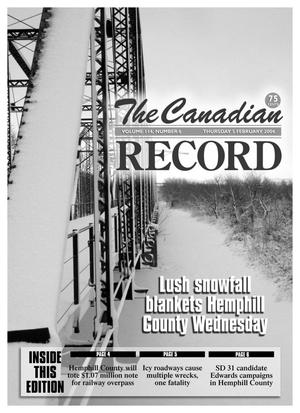 Primary view of object titled 'The Canadian Record (Canadian, Tex.), Vol. 114, No. 6, Ed. 1 Thursday, February 5, 2004'.