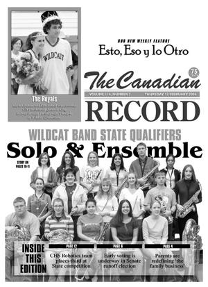 Primary view of object titled 'The Canadian Record (Canadian, Tex.), Vol. 114, No. 7, Ed. 1 Thursday, February 12, 2004'.