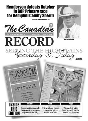 The Canadian Record (Canadian, Tex.), Vol. 114, No. 11, Ed. 1 Thursday, March 11, 2004