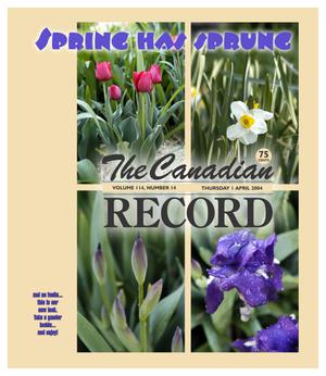 Primary view of object titled 'The Canadian Record (Canadian, Tex.), Vol. 114, No. 14, Ed. 1 Thursday, April 1, 2004'.